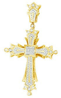 10KY 0.40ctw Diamond Cross Pendant