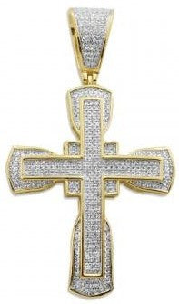 10KY 1.00ctw Diamond Cross Pendant