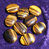Tiger's Eye Palm Stone~Small CRPSTIEY