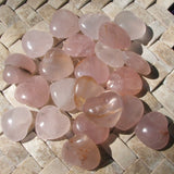 Rose Quartz Heart Large~CRHTRQLG
