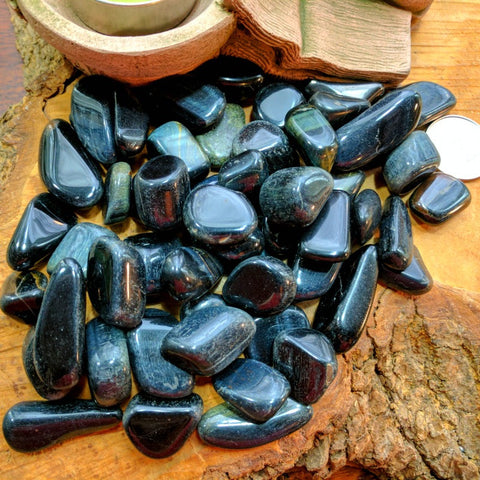 Tumbled Tiger Eye Blue~TUMTEBL