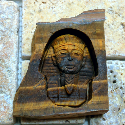 Tiger Eye King Tut Carving~ CRKTTE07