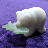 White Jade Bear Carving~CRWJBEAR