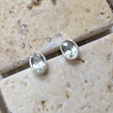 Prasiolite (Green Amethyst) Post Earrings~JPRAEAR2