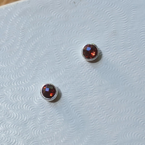Almandine Garnet Post Earrings~JGAREAR2