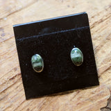 Chrysotile in Serpentine Post Earrings~JCHSPER2