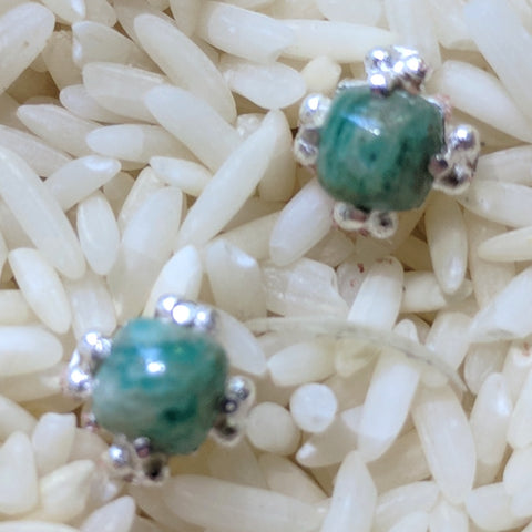 Amazonite Post Earrings~JAMAEAR2