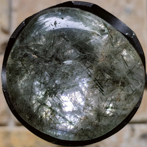 Actinolite In Quartz Polished~CRACTQ30