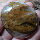 Golden Healer Quartz Palm Stone~CRGHQP15