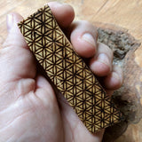 Engraved Flower of Life Palo Santo Stick~ RFOLPALO