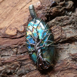 Labradorite Tree Wire Wrapped Pendant~JWRLABT5