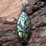 Labradorite Tree Wire Wrapped Pendant~JWRLABT6
