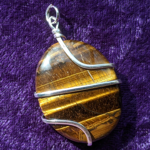 Tiger Eye Pendant~JSPWRTE2
