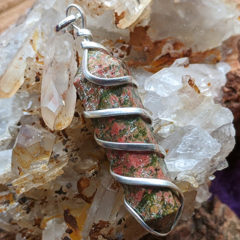Unakite Point Pendant~JSPUNPP3