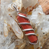 Red Jasper Point Pendant~JSPWRRP1