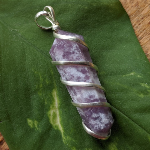 Lepidolite Point Pendant~JSPWRLP5