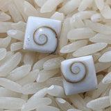 Shell Spiral Post Earrings~JSHELLE2