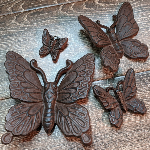 Metal Butterflies Wall Hanging Set ~ Metal SHDBTFLYS