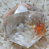 Creator's Star Faceted Red Hematoid Quartz~CRRHQCS2