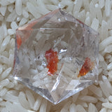 Creator's Star Faceted Red Hematoid Quartz~CRRHQCS3