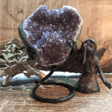 Amethyst Geode on Metal Stand~CRAMMS04