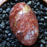 Red Hematoid Quartz Palm Stone~CRRHPS25