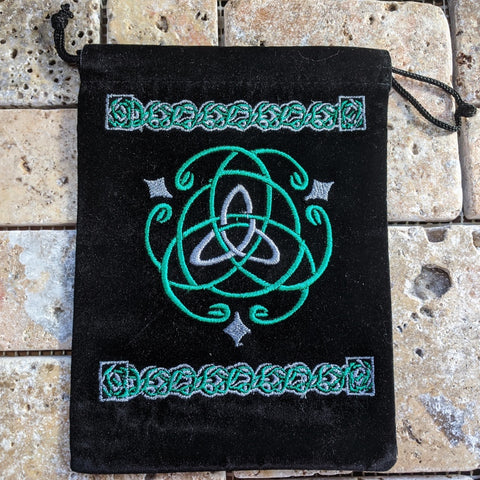 Trinity Celtic Knot Embroidered Pouch~TEXTCKP1