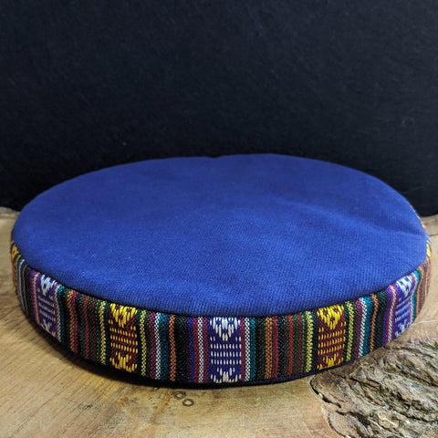 Blue Singing Bowl / Meditation Bowl Cushion 6.5 inch