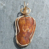 Wire Wrapped Allosaurus Tooth Pendant