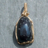 Wire Wrapped Covellite Pendant