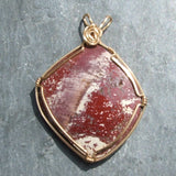 Wire Wrapped Angel Wing Alunite Pendant