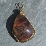 Wire Wrapped Lodolite Pendant