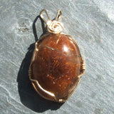 Wire Wrapped Rutilated Quartz Pendant