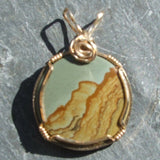 Wire Wrapped Picture Jasper Pendant