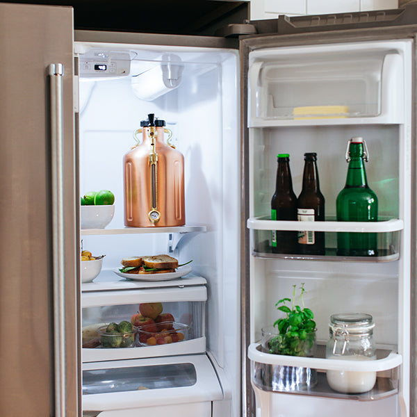 uKeg Half Gallon Growler fits in your fridge