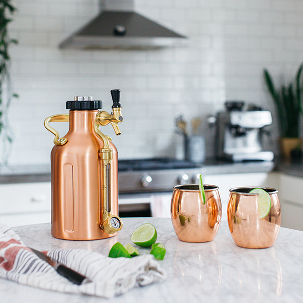 Moscow Mules in a copper uKeg