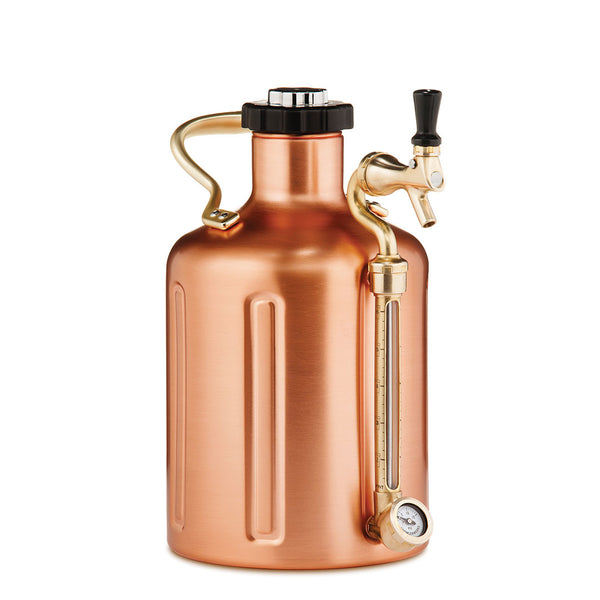 Ukeg 128 Copper Plated Pressurized Growler With Tap
