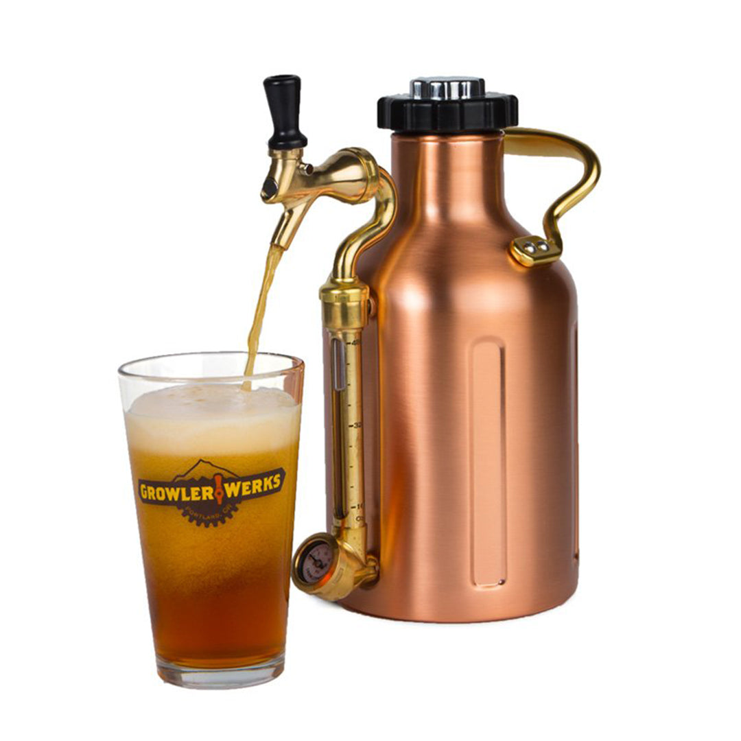 Ukeg 64 Copper Plated Steel Growler With Tap Growlerwerks