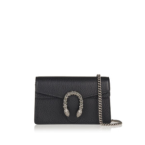 GUCCI DIONYSUS BLACK LEATHER SUPER MINI BAG (RENTAL)