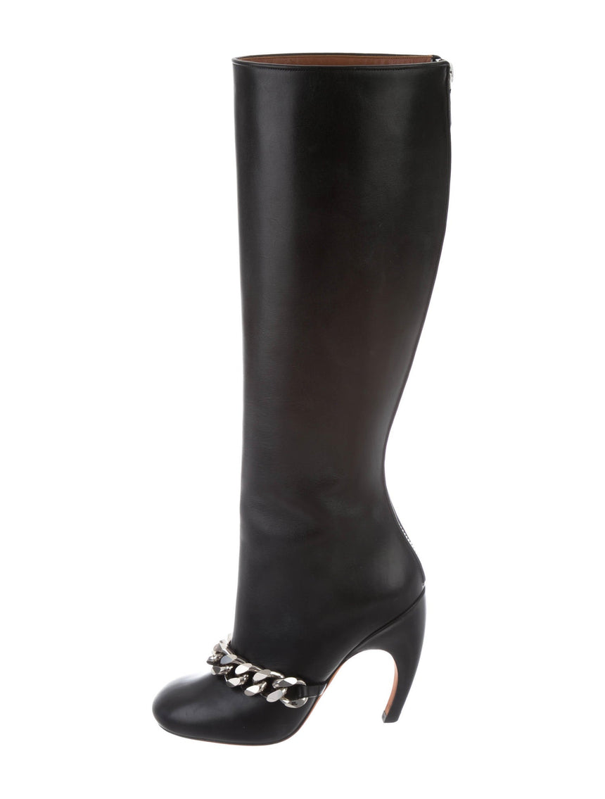 Givenchy Leather Knee-High Boots (Pre-Loved)