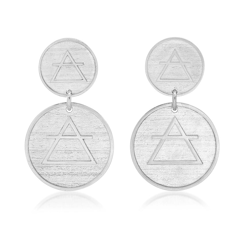 CHANGE 2-COIN EARRINGS - AIR