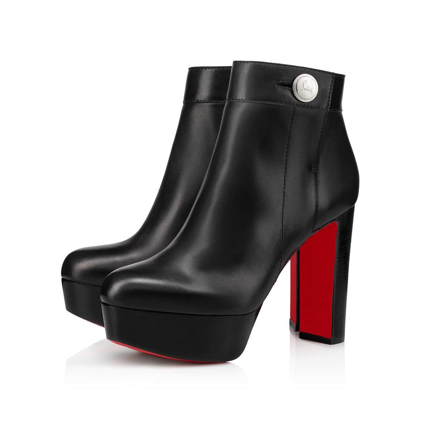 Christian Louboutin Janis Alta Leather Platform Ankle Boots (Pre-Loved)