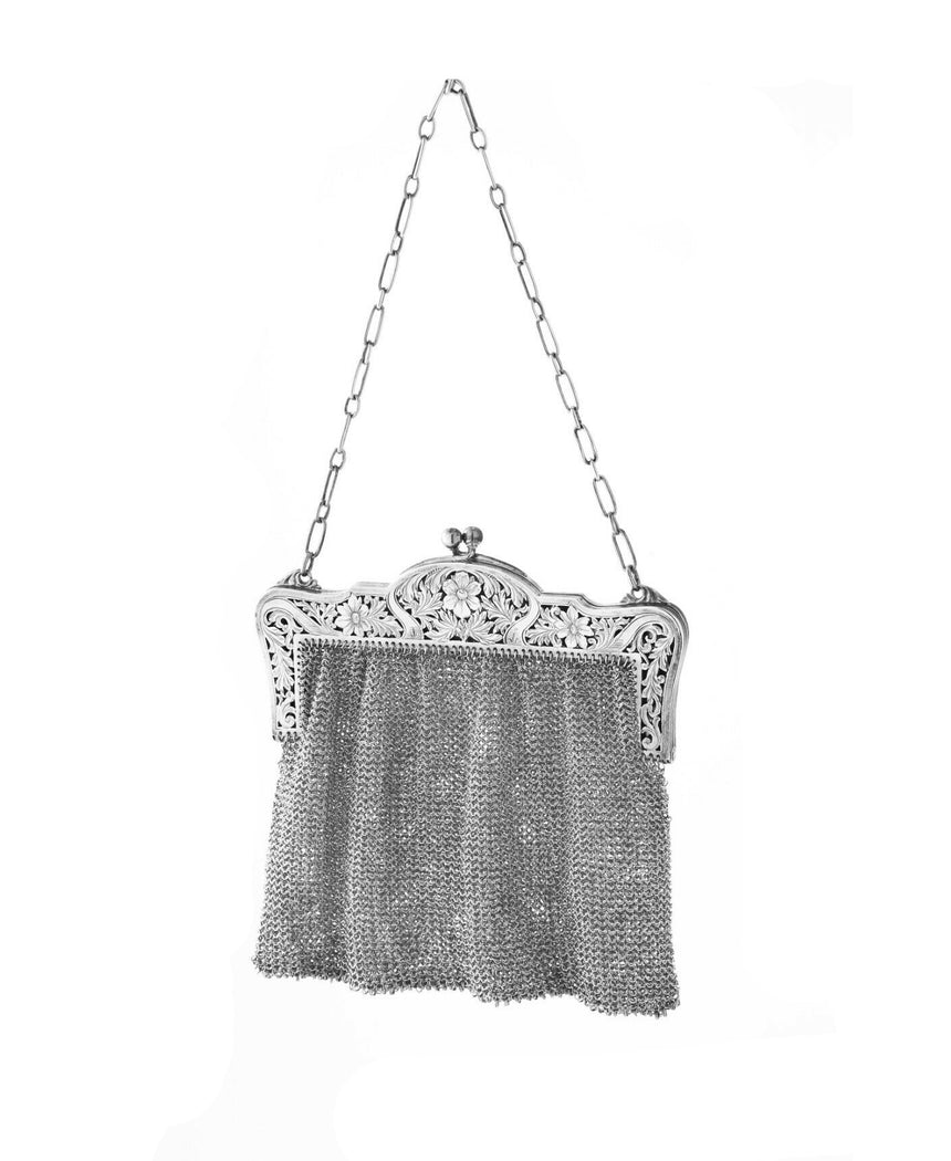 Sterling Silver Art Nouveau Mesh Purse (Vintage)