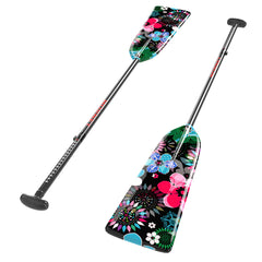"G6 (ALLEN KEY) - BLACK FLOWERS G6 ADJUSTABLE HORNET PADDLE|G6 (CLEF ALLEN) - PAGAIE AJUSTABLE HORNET ""FLEURS NOIRES"""