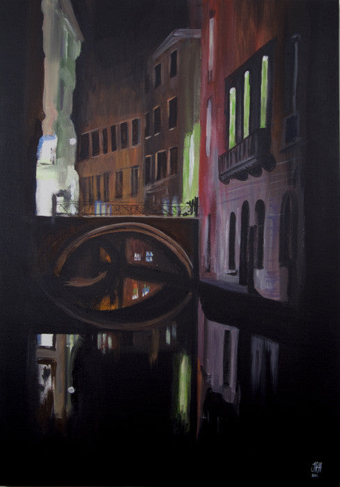 That Night in Venice (sold)  Smart Deco Homeware Lighting and Art by Jacqueline hammond