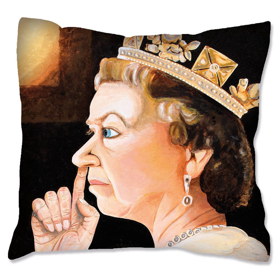 Queen Artwork Print Cushion Cover  Smart Deco Homeware Lighting and Art by Jacqueline hammond