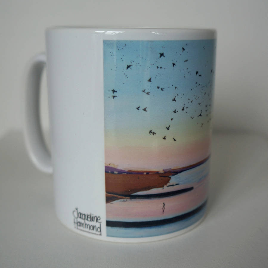 Tidal Sunset - Ceramic Mug - Birds At The Seaside  Smart Deco Homeware Lighting and Art by Jacqueline hammond
