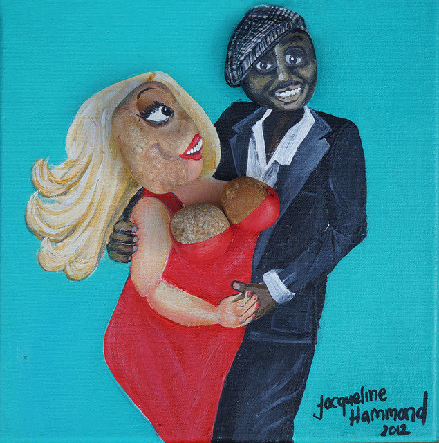 The Pebble Heads Celebs -Vanessa Feltz and Ben Ofoedu  Smart Deco Homeware Lighting and Art by Jacqueline hammond