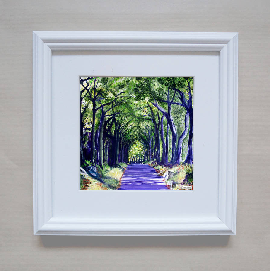 Print - Mum's Drive Home Framed  By Jacqueline Hammond  Smart Deco Homeware Lighting and Art by Jacqueline hammond