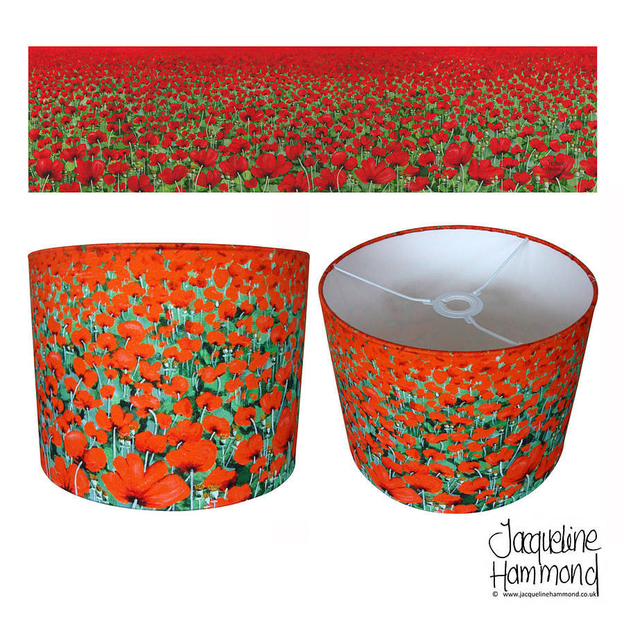 Lampshade - Blowing Poppies by Smart Deco  Smart Deco Homeware Lighting and Art by Jacqueline hammond